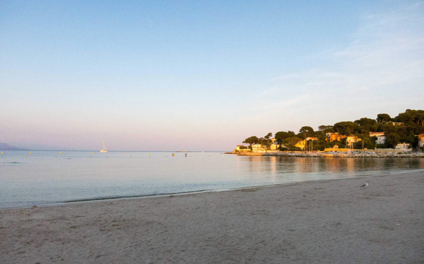 Sandy beaches surround Antibes